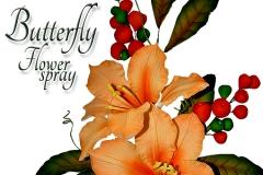 butterfly-flower-spray